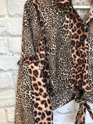 Leopard Print Shirt with Full Sleeves