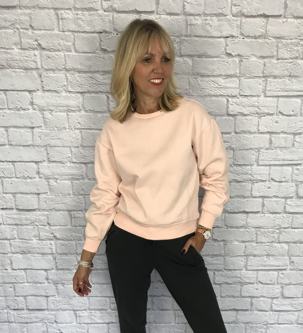 Pale Pink Cotton Sweatshirt
