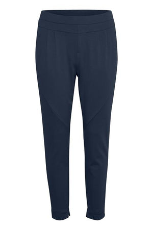 Pull On Smart/Casual Navy Trousers