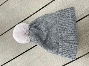Bobble Hat in Grey