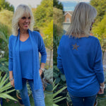 Star Jumper and Scarf in Blue