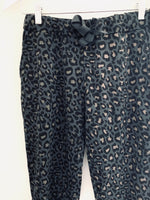 Softest Leopard Jersey Joggers in Dark Grey