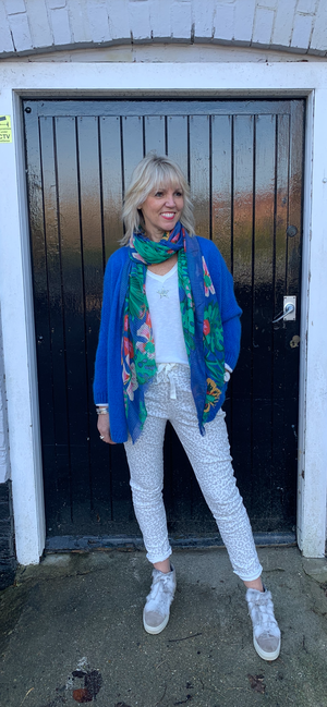 Parrot & Pineapple Print Scarf