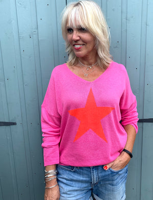 Pink & Red Star Jumper