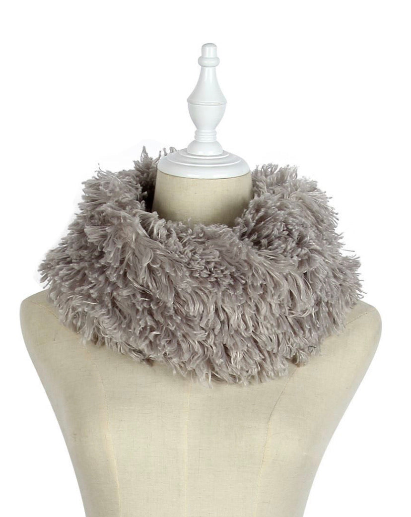 Soft Fluffy Snood in Grey