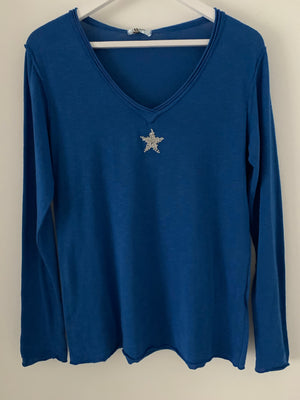 Long Sleeve Blue Star Tee
