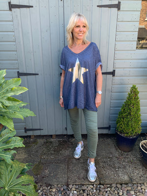 Blue Star Boyfriend Tee