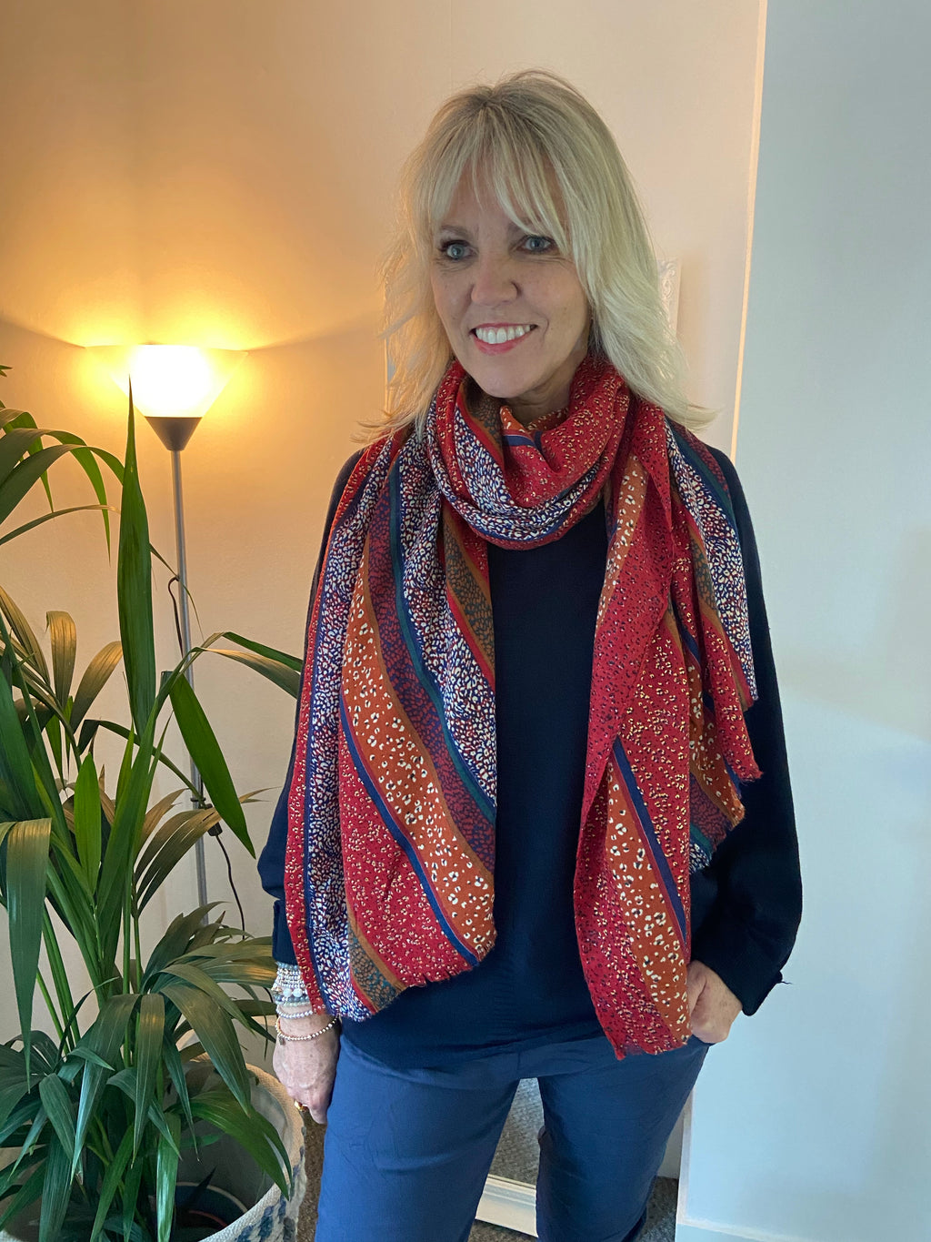 Multi-Coloured Glitter Scarf