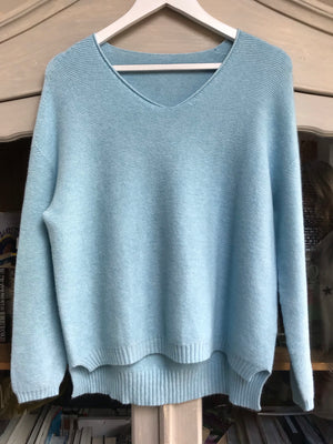 Baby Blue Jumper with Ribbed Star