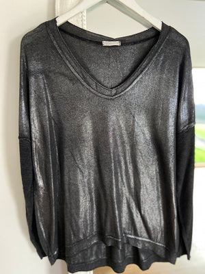 Shimmery Top in Slate Grey