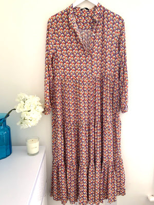 Tiered Patterned Dress