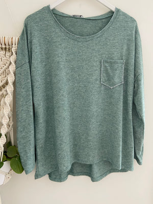 Pocket Top in Green