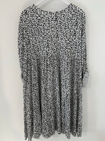 White Leopard Tiered Dress