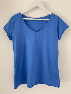 Blue Cotton Tee