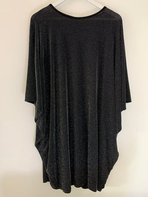 Black Sparkly Batwing Dress