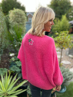 Pink Mohair Jumper with Star