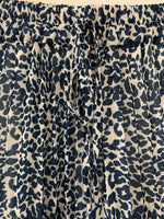 Blue Animal Print Skirt