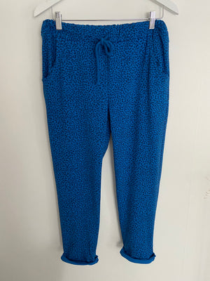Animal Print Joggers in Blue