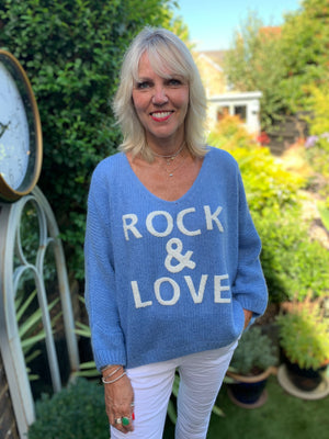 Rock & Love Jumper in Cornflower