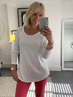 Long Sleeve Ivory Tee Top