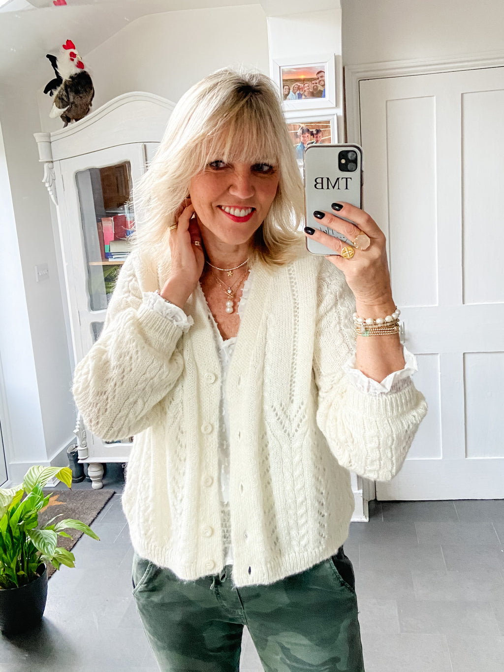 Lace Cardi in Winter White