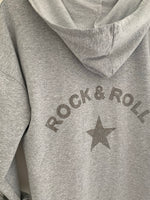 Grey Hooded Rock & Roll Parka