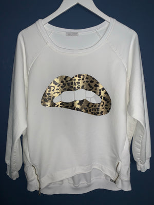White Lips Sweatshirt