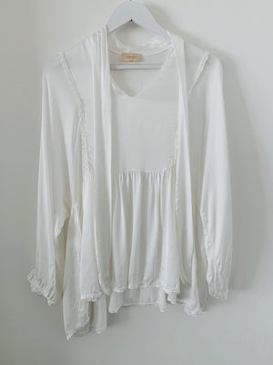 Ivory Silk Blouse