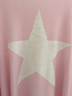 Reversible Poncho Star Jumper in Pink