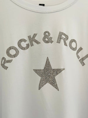Rock & Roll Top in White