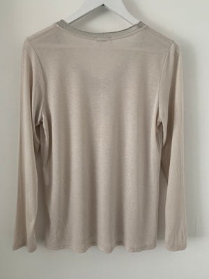 Soft Long Sleeve Top in Taupe