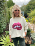 Lips Sweater in Ivory