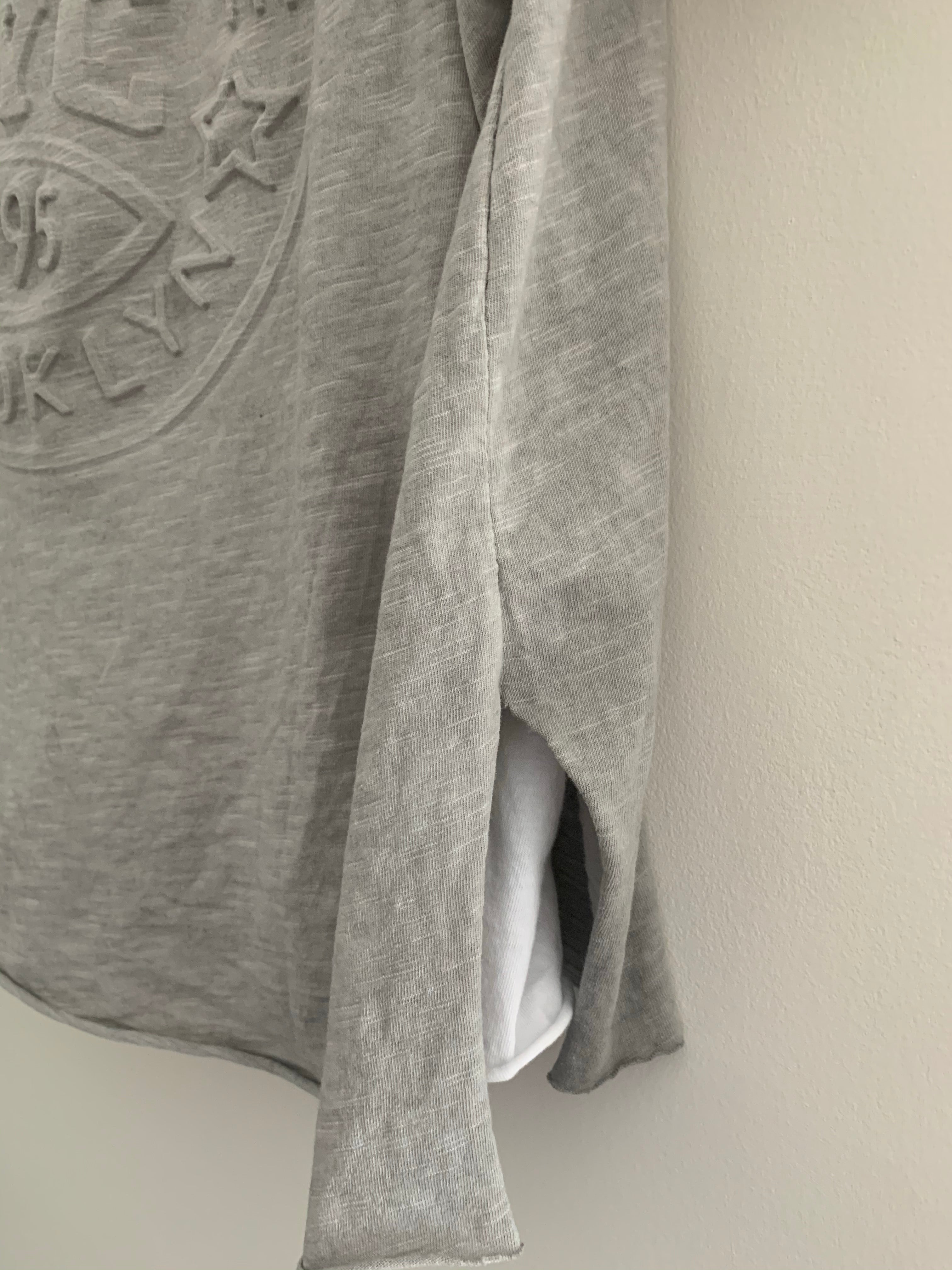 Light Grey Brooklyn Two Piece Tee