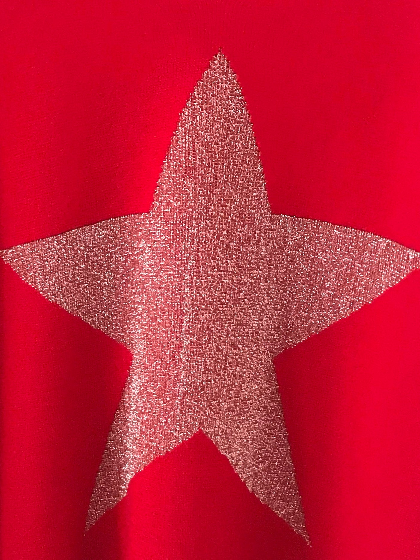 Red Sparkly Star Jumper