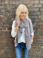Super Soft and Warm Scarf in Mid Grey