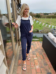 Light Jersey Dungarees in Navy