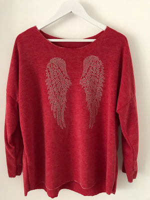 Raspberry Top with Angel Wings