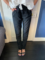 Broderie Anglais Trousers in Black