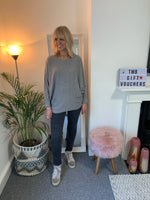 Grey Batwing with Pockets