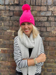 Bobble Hat in Pink