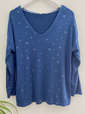 Star Top in Blue