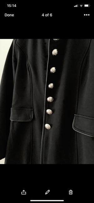 Stretch Military Jacket in Black