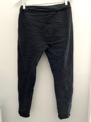 Washed Black Stretch Joggers