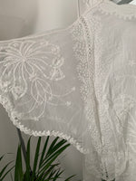 Lace V Neck Top in Ivory
