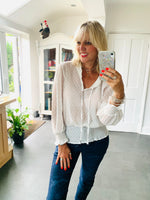 Dotty Blouse in Ivory