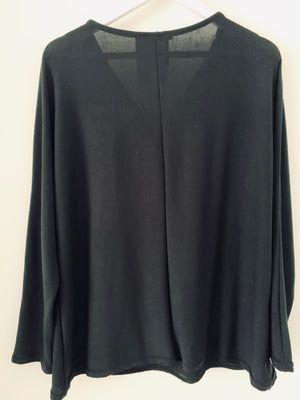 Black Zip Blouse