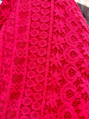 Hot Pink Cotton Maxi Dress