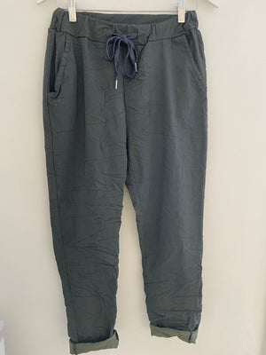 Super Stretch Joggers in Charcoal Grey