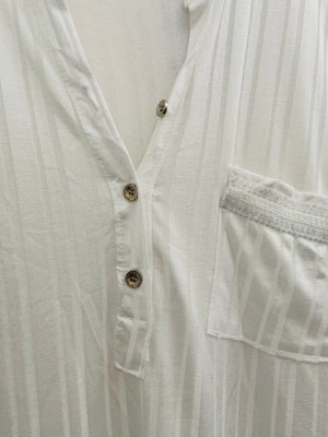 Silky Stretch Shirt in White