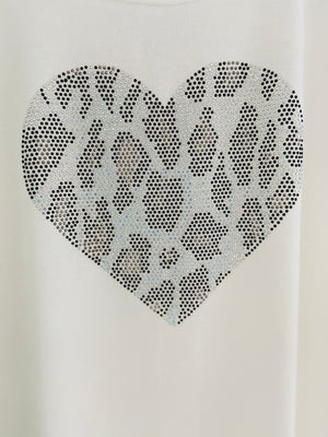 Heart Top in White